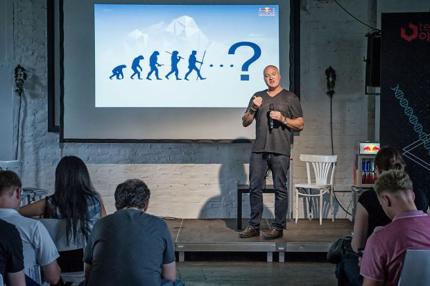 Dr. Andrew Walshe for MaketechX at TOA Photo: Nika Kramer